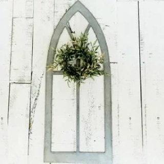 Tall Metal Arch Window