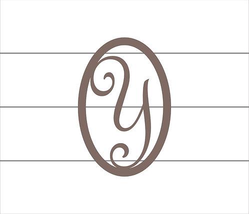 Y Oval Monogram