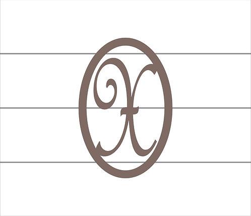 X Oval Monogram