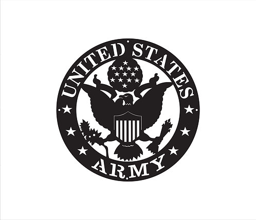 Army Seal Metal Sign