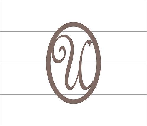 U Oval Monogram