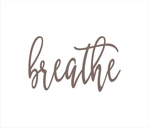 Breathe Metal Word Sign