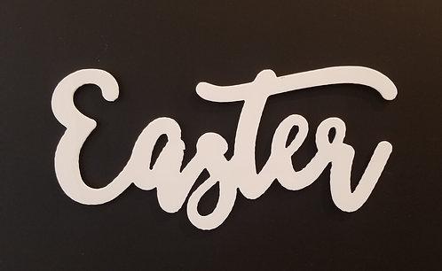 White Easter Word Magnet