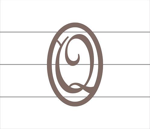Q Oval Monogram
