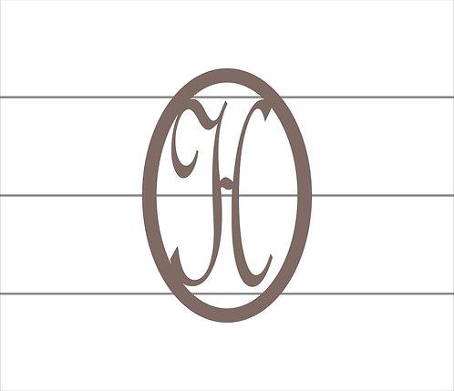 H Oval Monogram