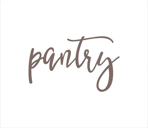 Pantry Metal Word Sign