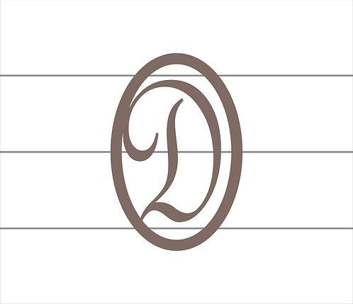 D Oval Monogram