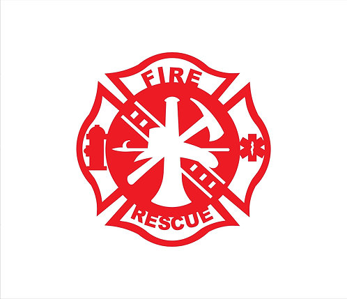 Fire Rescue Metal Sign