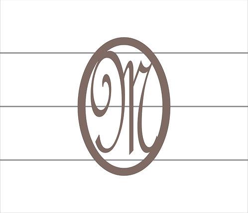 M Oval Monogram