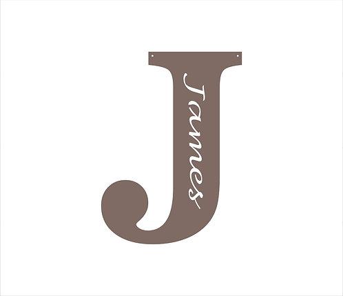 Custom Letter Name Sign Mounted on Pallet Board