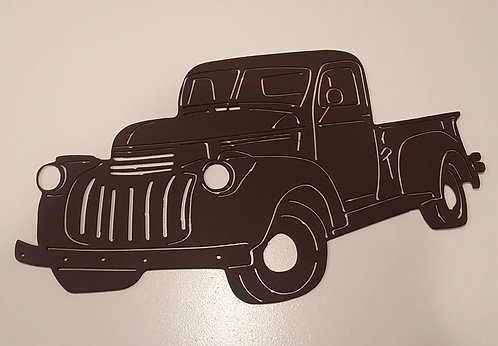 Antique Truck Metal Cutout