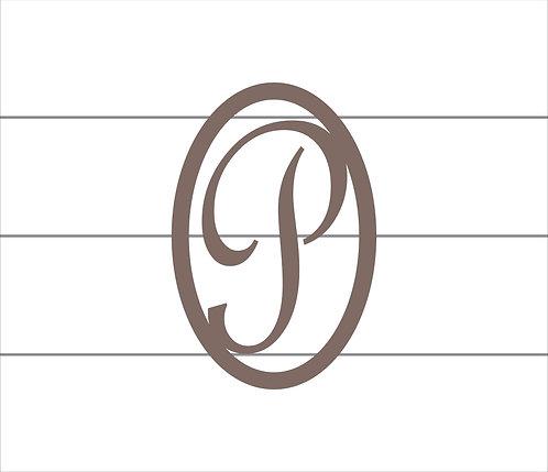 P Oval Monogram