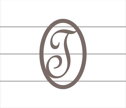 T Oval Monogram