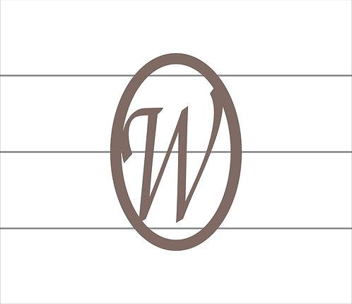 W Oval Monogram