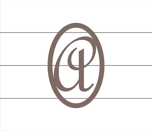 A Oval Monogram