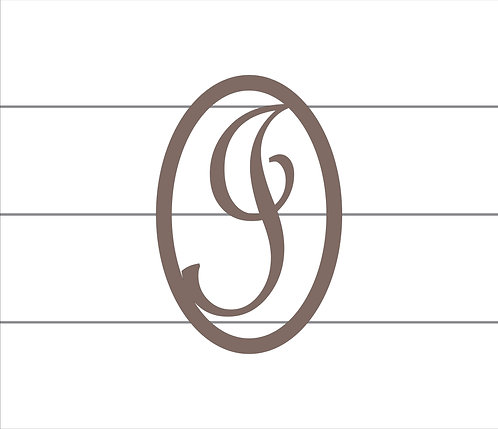I Oval Monogram