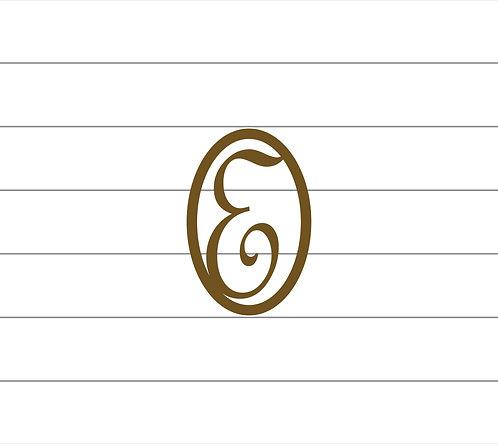 E Oval Monogram