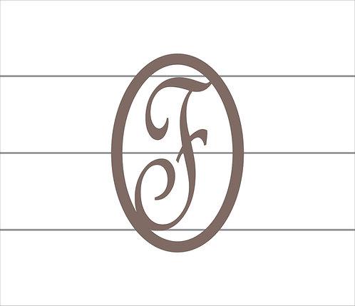 F Oval Monogram