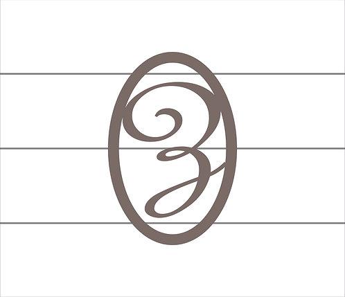Z Oval Monogram