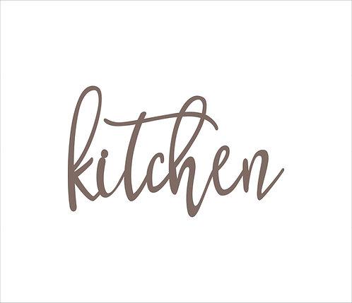 Kitchen Metal Word Sign