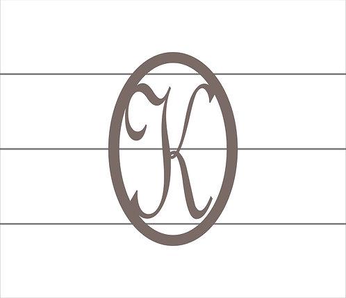 K Oval Monogram