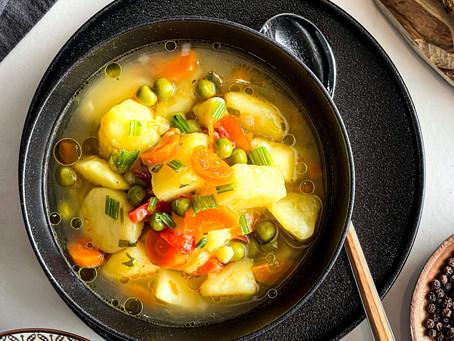 Σούπα Λαχανικών με Τζίντζερ