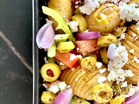 Baby Potatoes Greek Style
