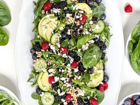 Mixed Berry Green Salad