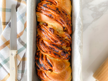 Tomato and Olive Babka Bread