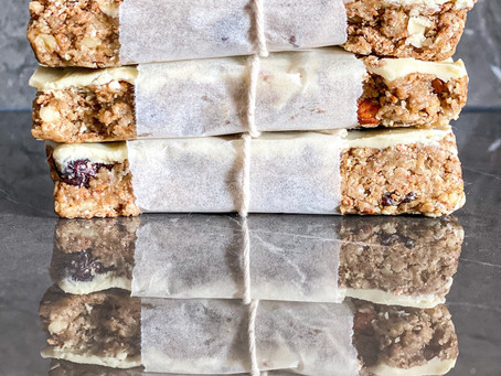 White Chocolate Energy Bars (No Bake)