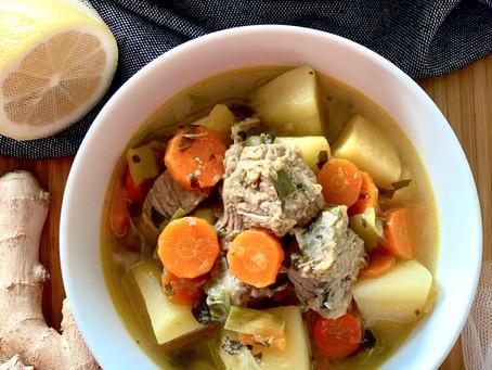 Ginger Beef Vegetables Soup