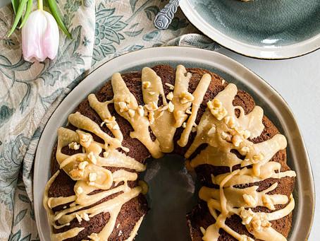 Banana Bundt Cake with Brown Sugar Glaze