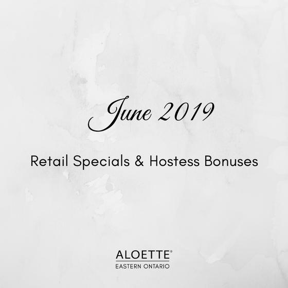 June 2019 Aloette Specials