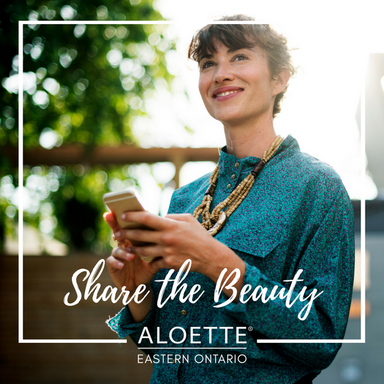 What Aloette's tagline 'Share the Beauty' Means to Me