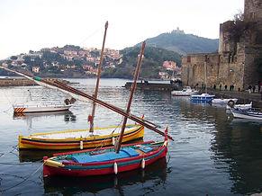 Coillure, boat, tourist, sea, beach,