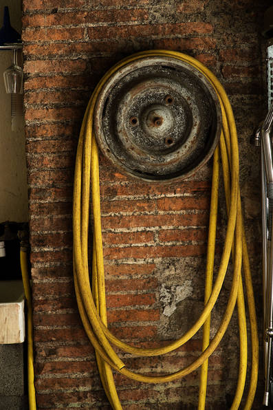 Yellow hose pipe