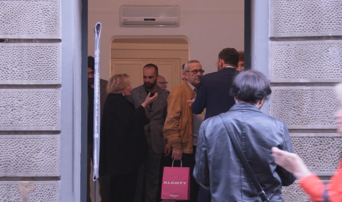 entrata mostra con Carlo Cinque