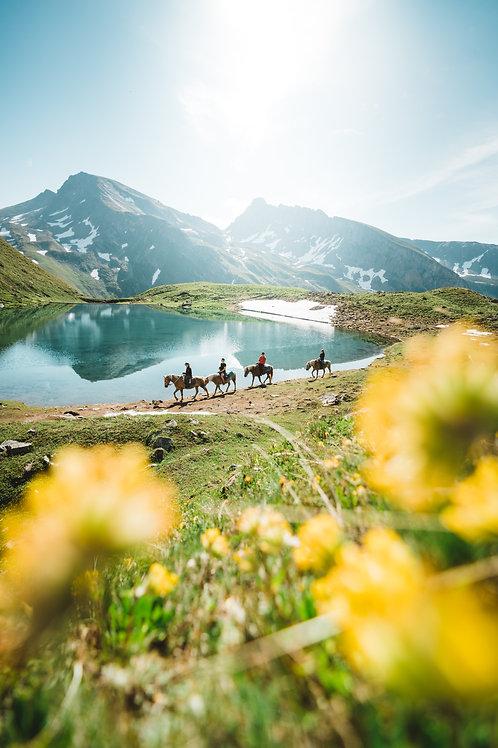 Wysse See auf der Alpe Galm