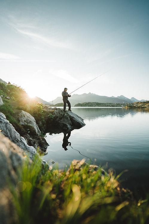 Fischen auf dem Grimselsee