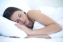 Woman enjoying restful sleep