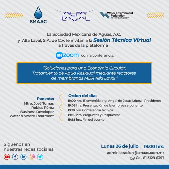 Sesión Técnica Virtual ALFA LAVAL