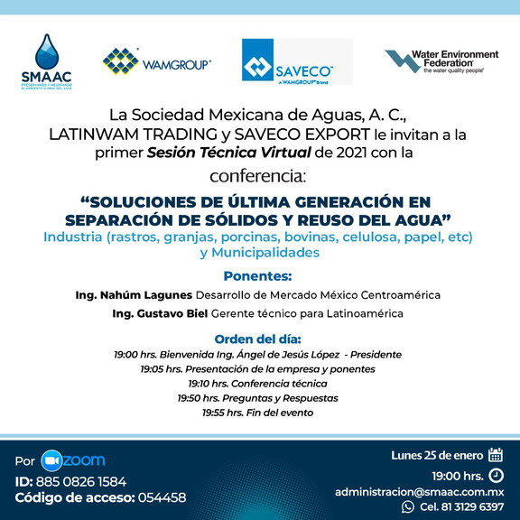 Sesión Técnica Virtual - 25 enero 2021 Latinwam Trading- Saveco Export