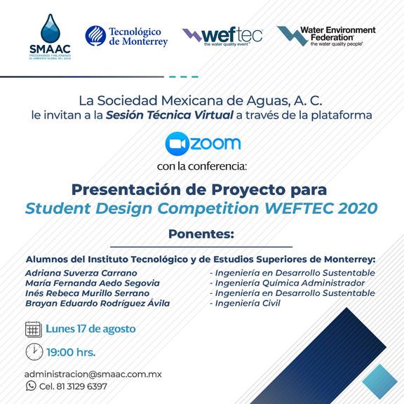PRESENTACIÓN DE PROYECTO SDC WEFTEC - 17 AGOSTO 2020