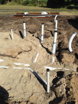 New house plumbing drainage
