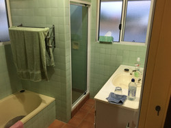 Bathroom before and after project