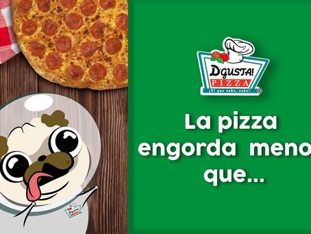 La pizza engorda menos que...