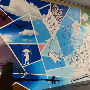 JUNE: Back in the classroom! New Groundswell mural at Urban Assembly School for Emergency Management