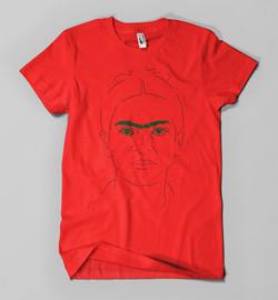 Frida Kahlo (on red)