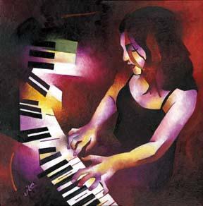 Chiara at the Keys