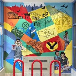 """Ridgewood is My Place!"" murals"